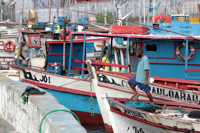 Pescadores da comunidade Canto do Mangue, na região ribeirinha do Rio Potengi