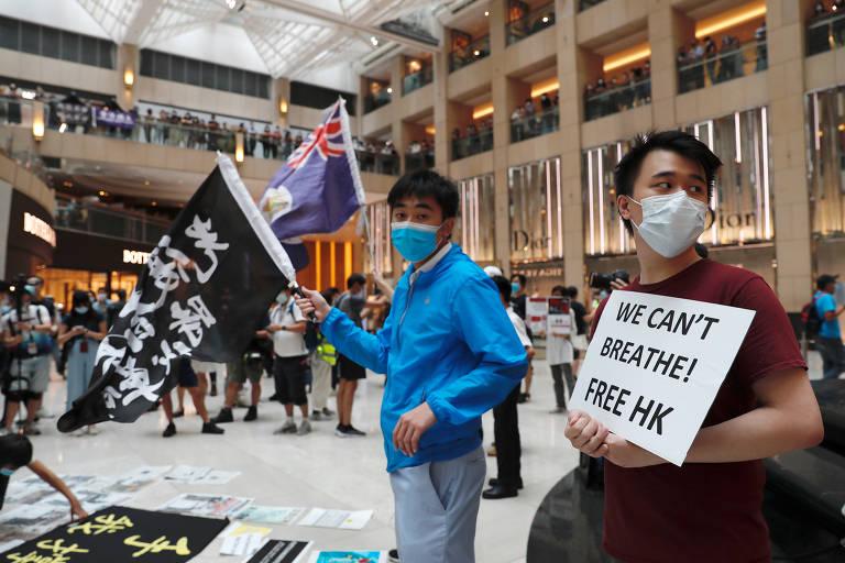 Hong Kong marca 1º aniversário de protestos pró-democracia; veja fotos de hoje