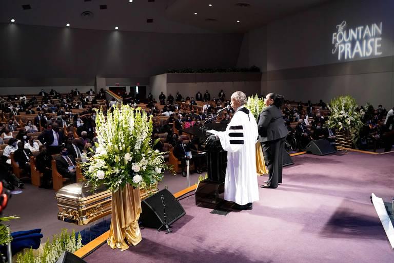 Veja imagens do funeral de George Floyd