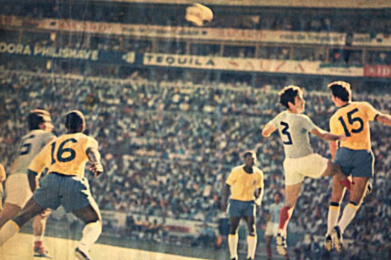 Brasil venceu a Romênia no terceiro jogo da fase de grupos da Copa do Mundo de 1970