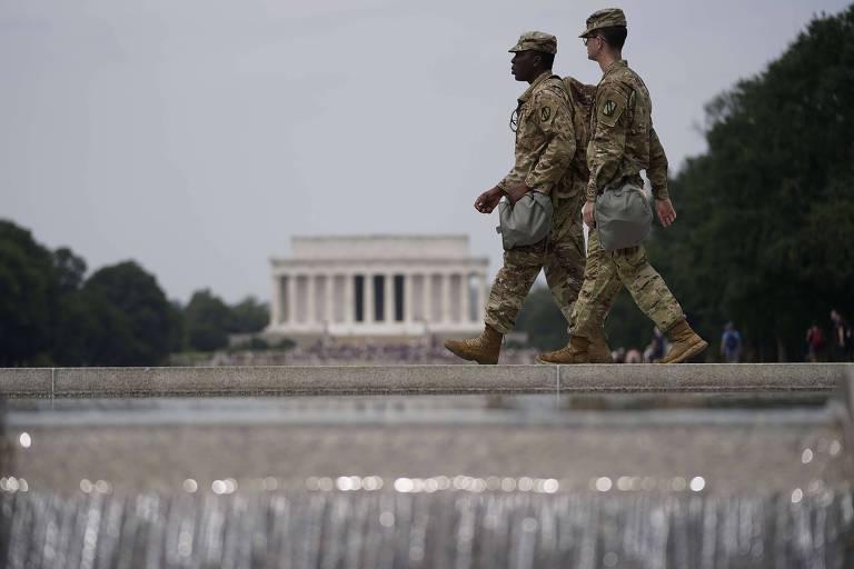 Membros da Guarda Nacional enviados Washington para conter os protestos na capital americana
