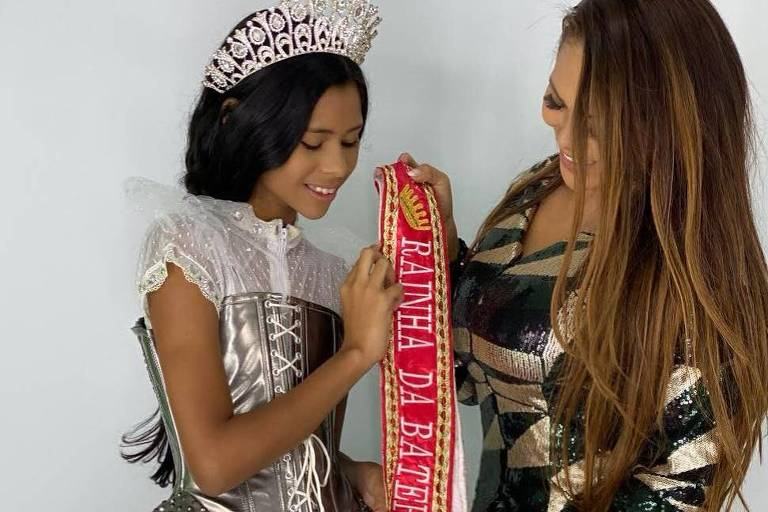 Darlin Ferratry e a filha mais nova, Wenny Isa, de 11 anos