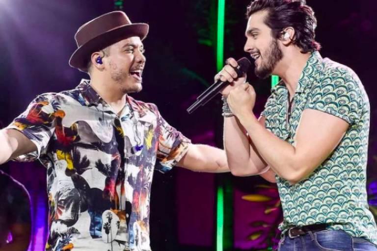 Wesley Safadão e Luan Santana no DVD WS Em Casa