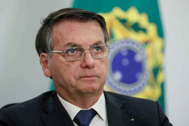 Jair Bolsonaro durante sessão de apreciação de contas da Presidência