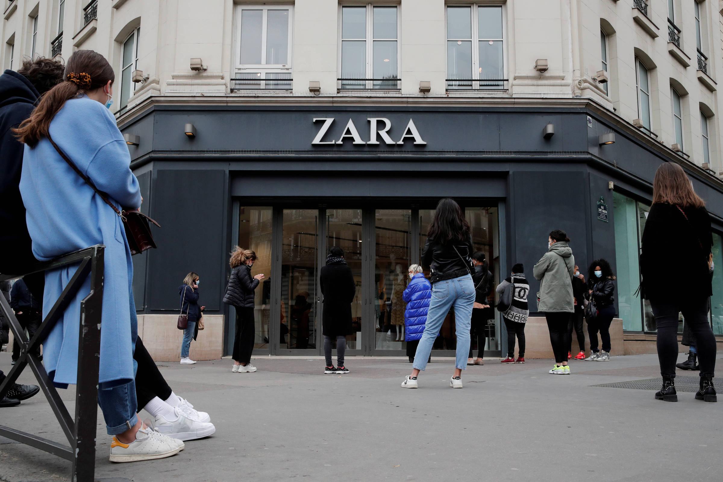 Grupo dono da Zara anuncia fechamento de 1.200 lojas após