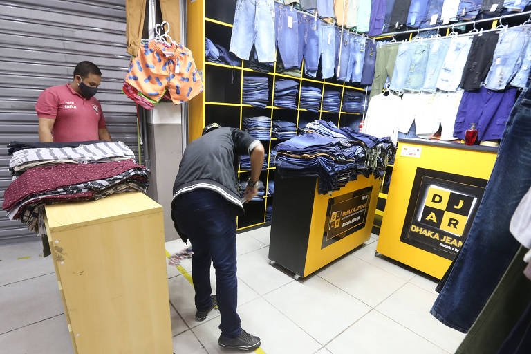 Reabertura de shoppings no Brás, em São Paulo