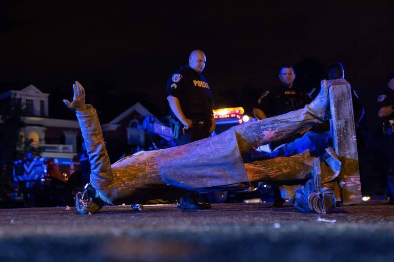 Ativistas derrubam estátuas confederadas nos EUA na esteira de onda revisionista