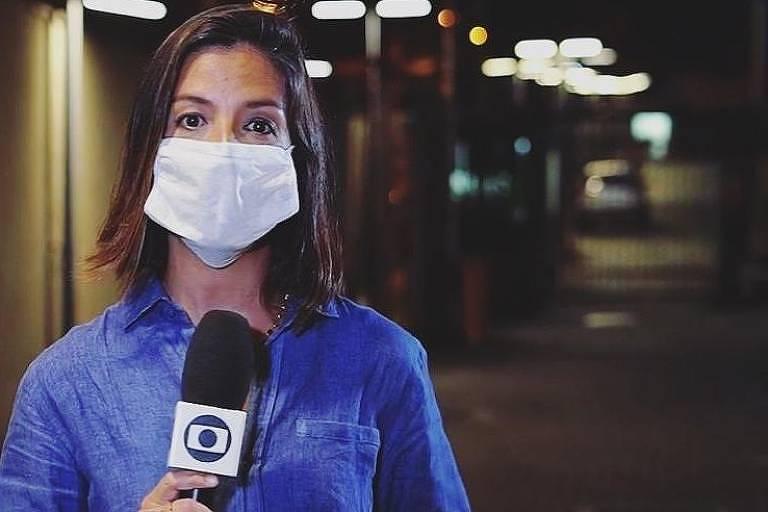 Marina Araujo, repórter da Globo
