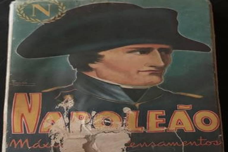 """Capa do livro """"Napoleão - Máximas e Pensamentos"""", selecionados em 1838 por Honoré de Balzac, em edição da Vecchi, de 1946"""