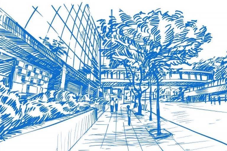 Desenhos do projeto pensado para a Villa XP