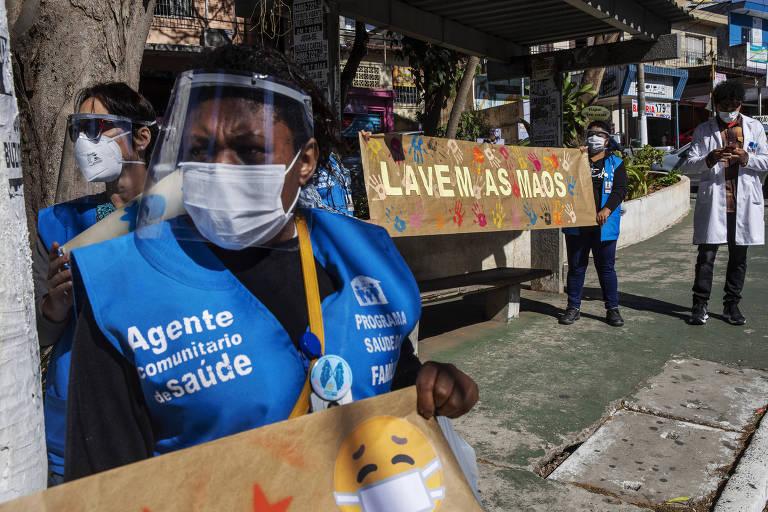 Agentes de saúde enfrentam de fake news a pancadão no combate ao coronavírus