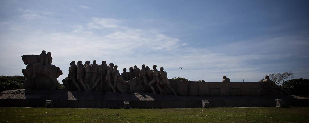 Monumento às Bandeiras, no Parque do Ibirapuera