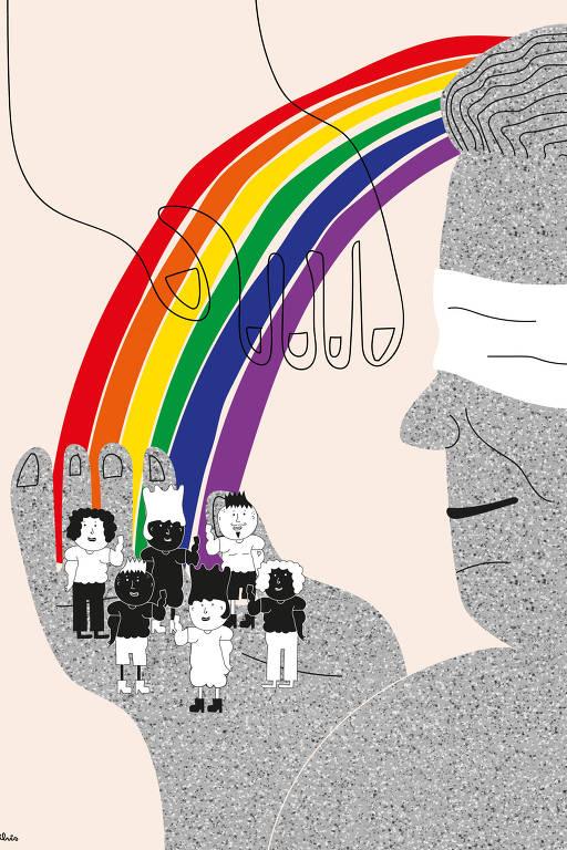 Ilustração sobre 1º ano da criminalização da LGBT fobia