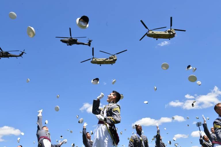Formatura na academia militar de West Point