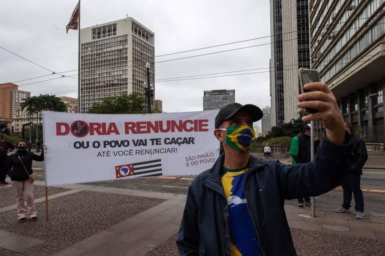 Manifestação pró-Bolsonaro em 14 de junho