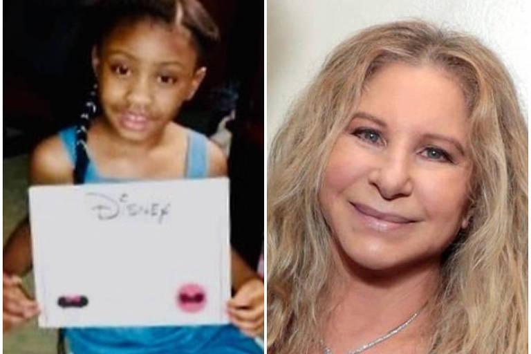 Montagem feita com fotos de Barbra Streisand e Gigi Floyd