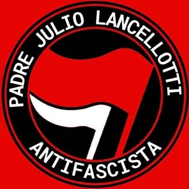 O padre Julio Lancellotti publicou no Instagram o logotipo da luta contra o fascismo