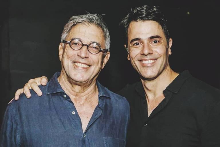Ivan Lins com o filho, Claudio Lins