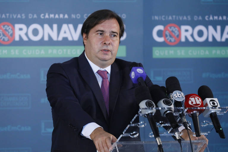 O presidente da Câmara dos Deputados, Rodrigo Maia