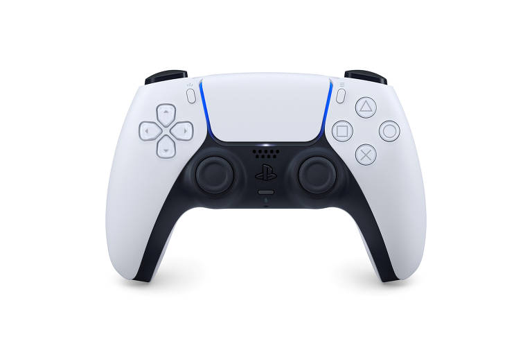 O controlador DualSense para o console Sony PlayStation 5