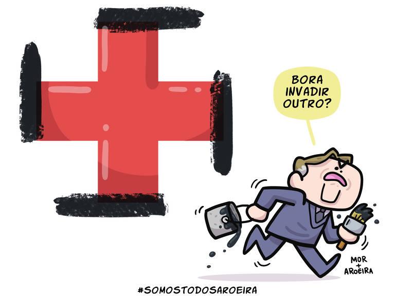 Cartuns em defesa de Aroeira contra o governo Bolsonaro