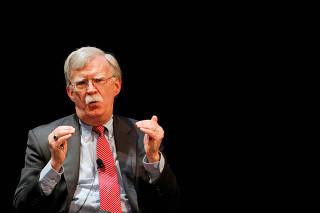 FILE PHOTO: Former national security advisor John Bolton in Durham, North Carolina