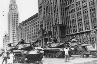 Tanques no Rio de Janeiro em abril de 1964