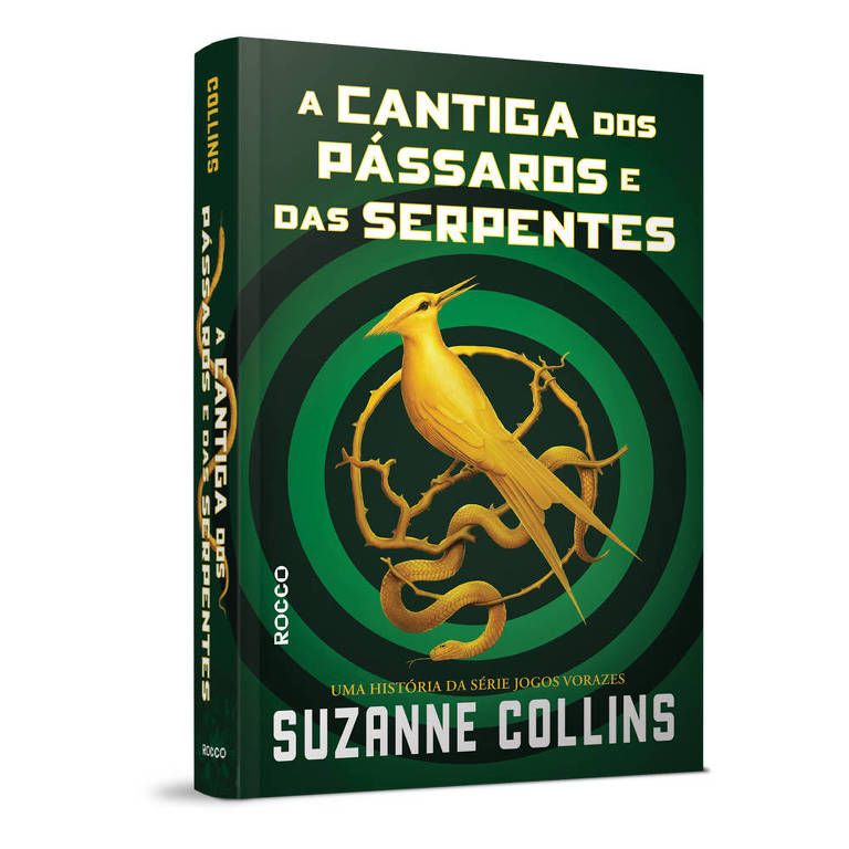 "Capa do livro ""A Cantiga dos Pássaros e das Serpentes"", que integra a saga ""Jogos Vorazes"""