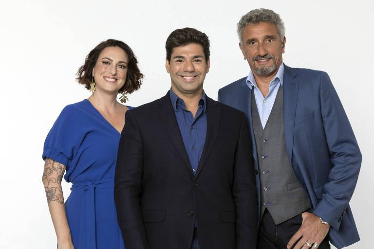 Felipe Bronze, Ailin Aleixo e o chef Emmanuel Bassoleil
