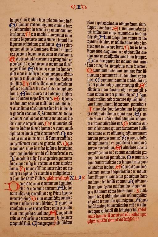 Ucraniano diz ter fragmento da Bíblia de Gutenberg em sua coleção