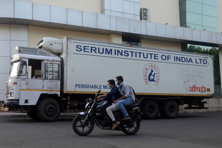 Servidores da Anvisa estiveram em Pune, onde fica a sede da Serum, para uma inspeção de práticas de fabricação