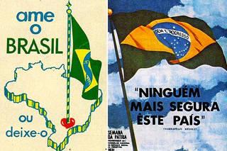 Panfletos com propagandas nacionalistas