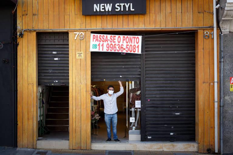 Após início da pandemia, 20 mil lojas fecharam na capital