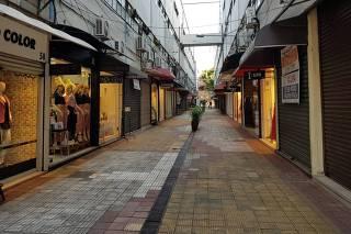Lojas fechadas na José Paulino