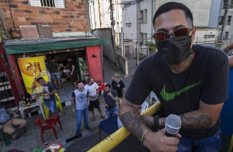 Alan Pereira da Rocha, 25, o Mc Lanzinho, autor da música para alertar Heliópolis sobre a Covid-19