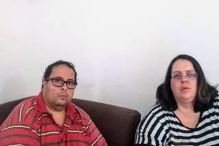 Fabiane Zonaro Costa e o marido, Roberto, pegaram o novo coronavírus