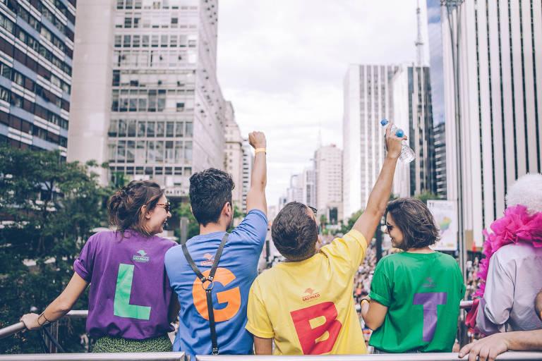 A 21ª Parada LGBT de São Paulo, em 2017