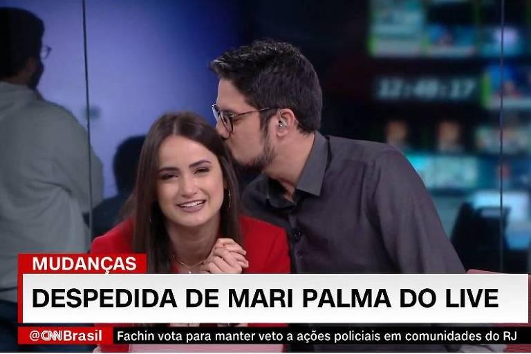 "Mari Palma se despede do ""Live CNN Brasil"""