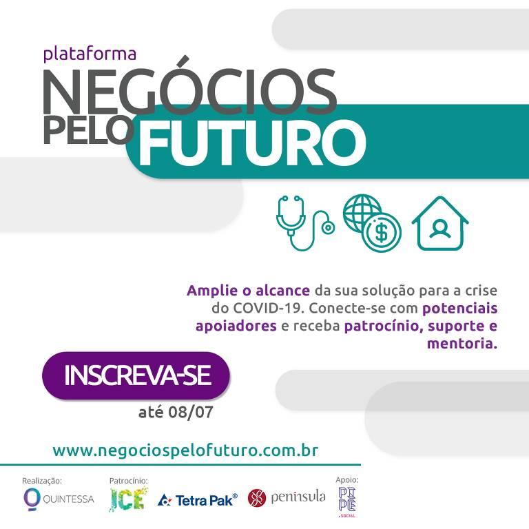 Plataforma Negócios pelo Futuro reúne empresas e institutos que irão apoiar negócios de impacto no combate à Covid-19