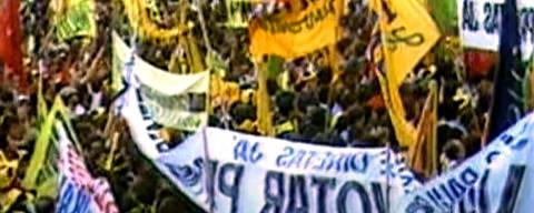 Diretas Já, movimento civil de reivindicação por eleições presidenciais diretas no Brasil ocorrido entre 1983 e 1984. Credito:Reprodução