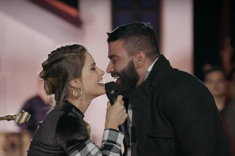 Andressa Suita e Gusttavo Lima em live de São João