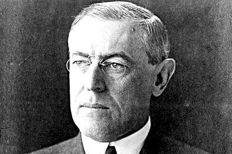 O ex-presidente norte-americano Woodrow Wilson