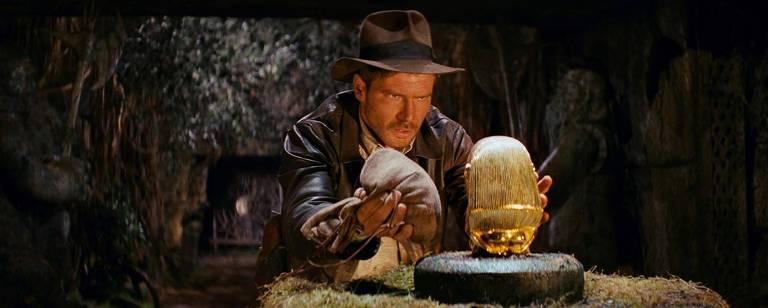"""Harrison Ford em cena de """"Indiana Jones e os Caçadores da Arca Perdida"""""""