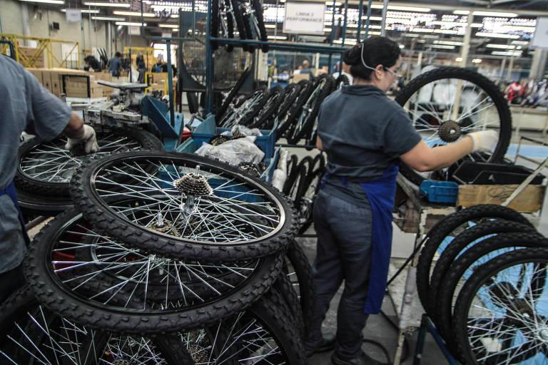 Linha de produção de bicicletas em Manaus (AM)