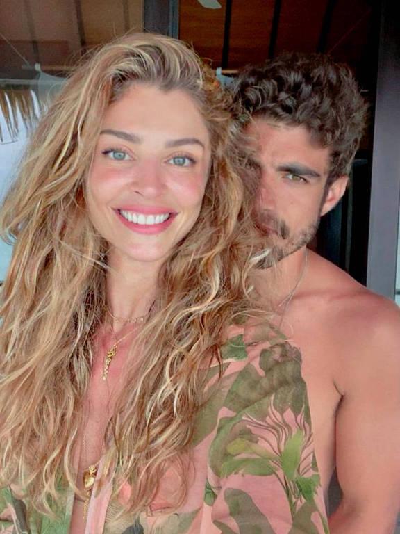 Imagens do casal Caio Castro e Grazi Massafera
