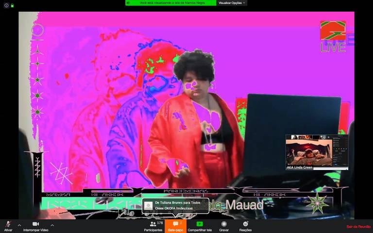 Confira prints de festa online promovida pela paulistana Mamba Negra