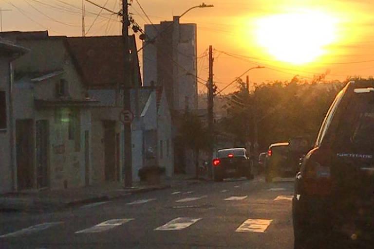 Pôr do sol em Indaiatuba (SP)