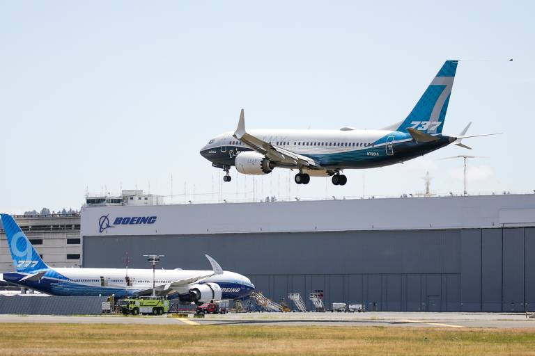 Avião Boeing 737 MAX começa testes para retomada de voos