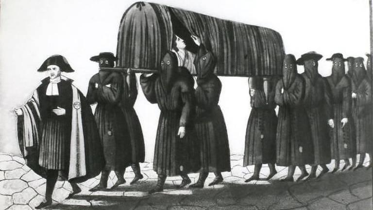 A peste negra matou de 75 a 200 milhões de pessoas em todo o mundo