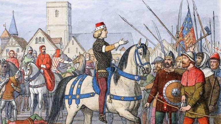 Depois que Ricardo 2 subiu os impostos para arrecadar dinheiro para continuar sua campanha no exterior, os camponeses pegaram em armas em 1381